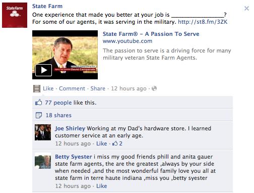 State Farm Veterans Day post